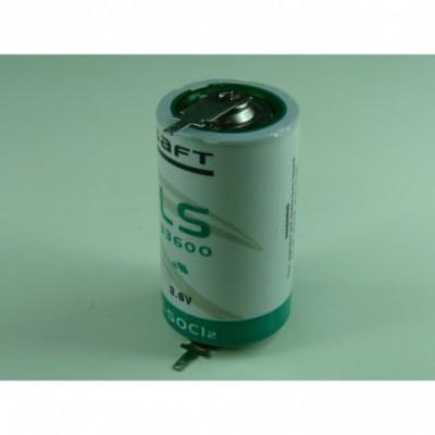 Pile lithium industrie D LS33600 3.6V 17Ah T2