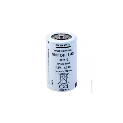 Accus Nicd VNT DH U HC 1.2 volts 4.5 ah