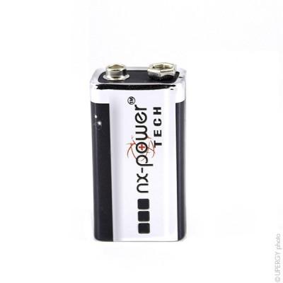 Pile alcaline 6LR61 Nx-Power Tech Boite de 10 9V 0.68Ah