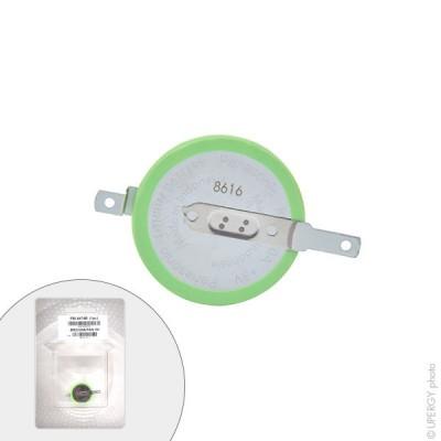Pile bouton lithium blister BR2330A/FAN PANASONIC 3V 255mAh