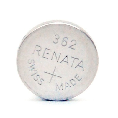 Pile bouton oxyde argent 362 RENATA 1.55V 24mAh