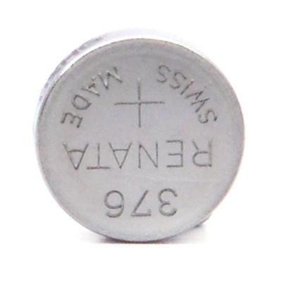 Pile bouton oxyde argent 376 RENATA 1.55V 27mAh