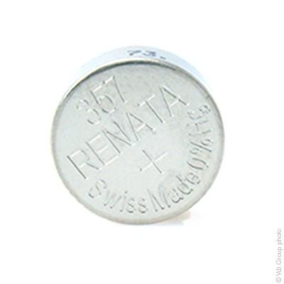 Pile bouton oxyde argent 357 RENATA 1.55V 190mAh