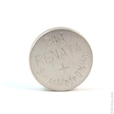 Pile bouton oxyde argent 344 RENATA 1.55V 105mAh