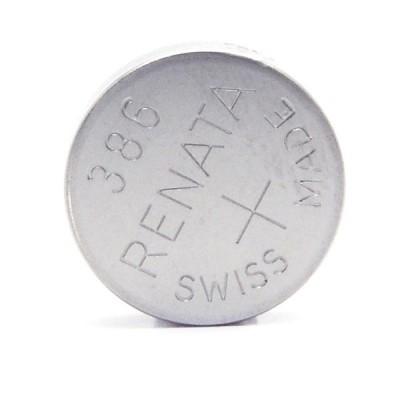 Pile bouton oxyde argent 386 RENATA 1.55V 130mAh