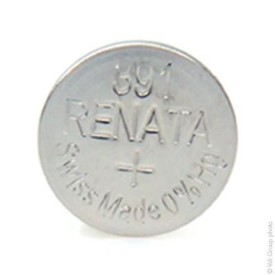 Pile bouton oxyde argent 391 RENATA 1.55V 50mAh