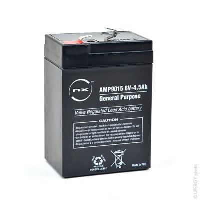 Batterie plomb AGM NX 4.5-6 General Purpose 6V 4.5Ah F4.8