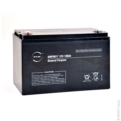 Batterie plomb AGM NX 100-12 General Purpose 12V 100Ah M8-F