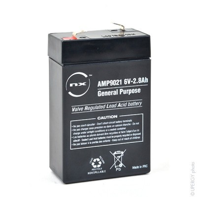 Batterie plomb AGM NX 2.8-6 General Purpose 6V 2.8Ah F4.8