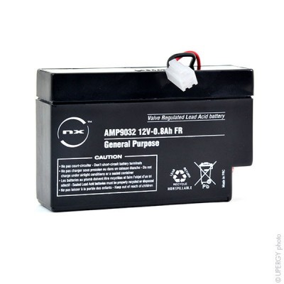 Batterie plomb AGM NX 0.8-12 General Purpose FR 12V 0.8Ah C01