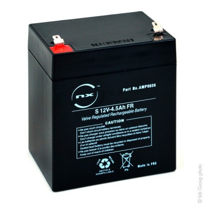 Batterie plomb AGM NX 4.5-12 General Purpose FR 12V 4.5Ah F4.8