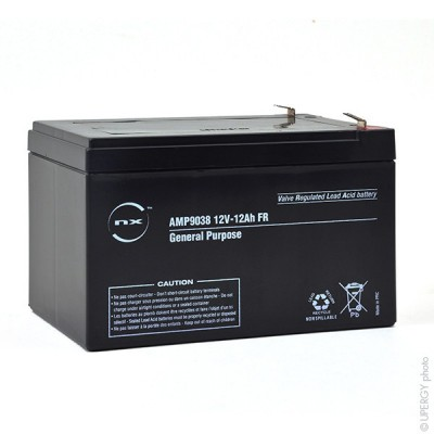 Batterie plomb AGM NX 12-12 General Purpose FR 12V 12Ah F6.35