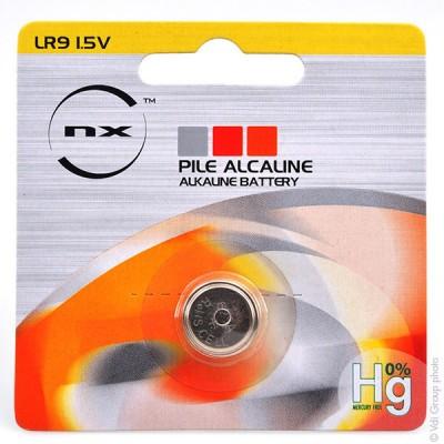 Pile bouton alcaline blister LR9 NX - 0% Hg 1.5V 190mAh