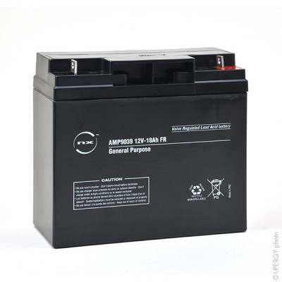 Batterie plomb AGM NX 18-12 General Purpose FR 12V 18Ah M6-M