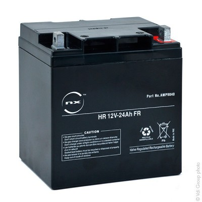 Batterie onduleur (ASI) NX 24-12 UPS High Rate FR 12V 24Ah M6-M