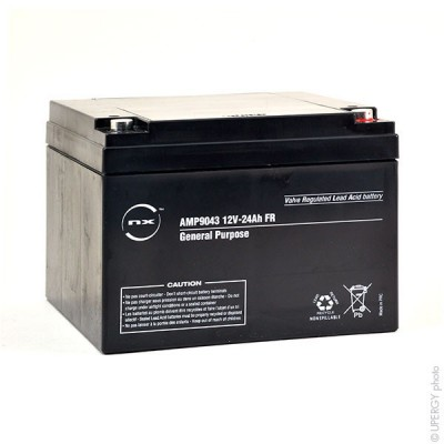 Batterie plomb AGM NX 24-12 General Purpose FR 12V 24Ah M5-F