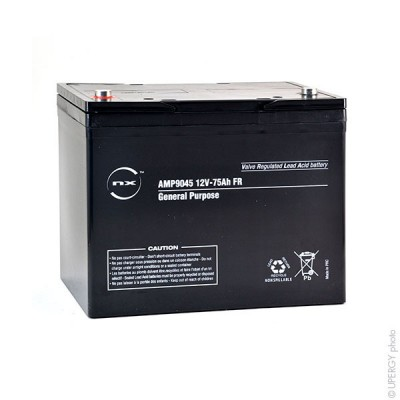 Batterie plomb AGM NX 75-12 General Purpose FR 12V 75Ah M6-F