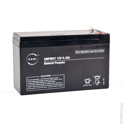 Batterie plomb AGM NX 5.4-12 General Purpose 12V 5.4Ah F4.8