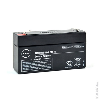 Batterie plomb AGM NX 1.2-6 General Purpose FR 6V 1.2Ah F4.8