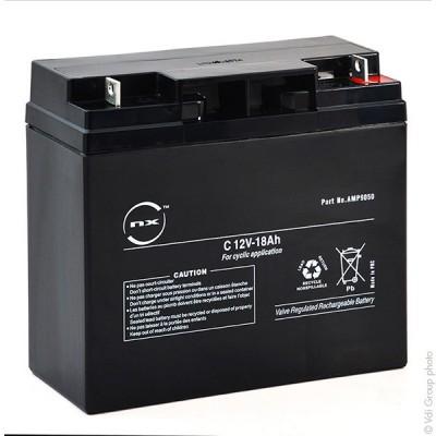 Batterie plomb AGM NX 18-12 Cyclic 12V 18Ah M6-M