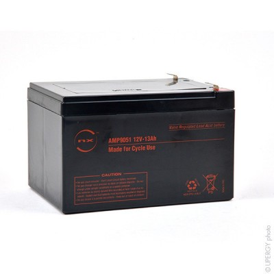 Batterie plomb AGM NX 13-12 Cyclic 12V 13Ah F6.35