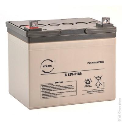 Batterie plomb etanche gel NX G 31-12 12V 31Ah M5-M