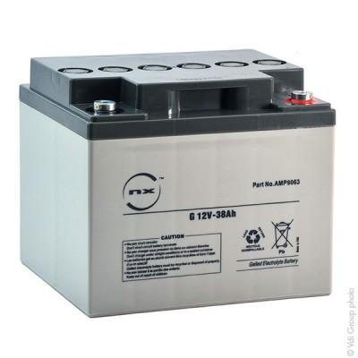 Batterie plomb etanche gel NX G 38-12 12V 38Ah M6-F