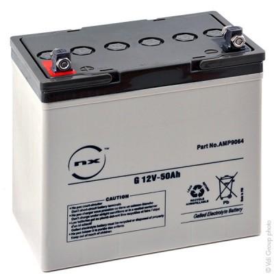 Batterie plomb etanche gel NX G 50-12 12V 50Ah M6-F