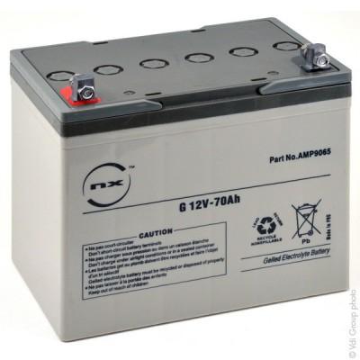 Batterie plomb etanche gel NX G 70-12 12V 70Ah M6-M