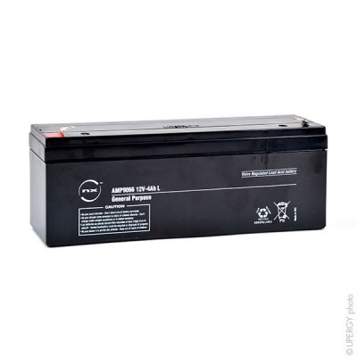 Batterie plomb AGM NX 4-12 L General Purpose 12V 4Ah F4.8