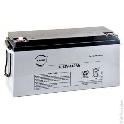 Batterie plomb etanche gel NX G 140-12 12V 140Ah M8-F