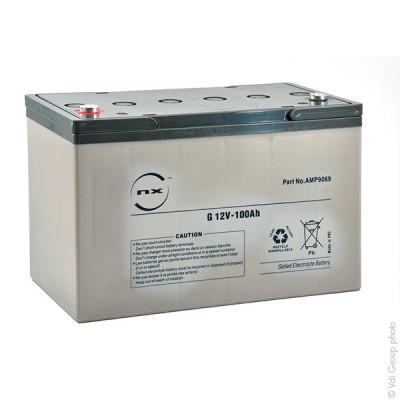 Batterie plomb etanche gel NX G 100-12 12V 100Ah M8-F