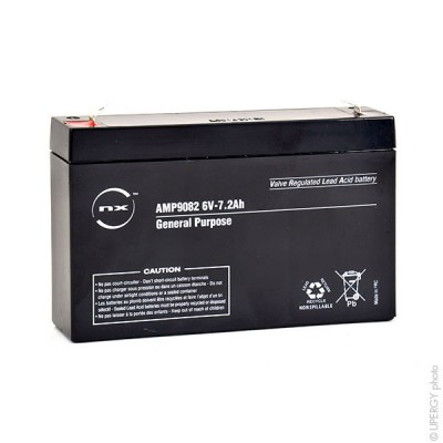 Batterie plomb AGM NX 7.2-6 General Purpose 6V 7.2Ah F4.8