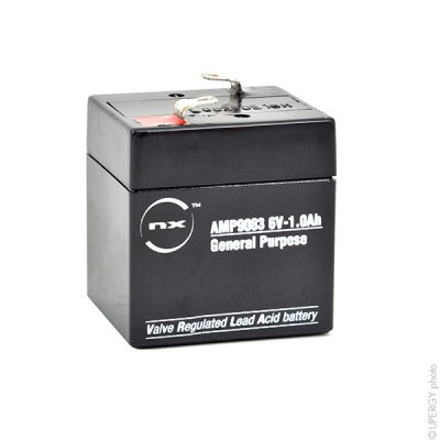 Batterie plomb AGM NX 1.0-6 General Purpose 6V 1Ah F4.8