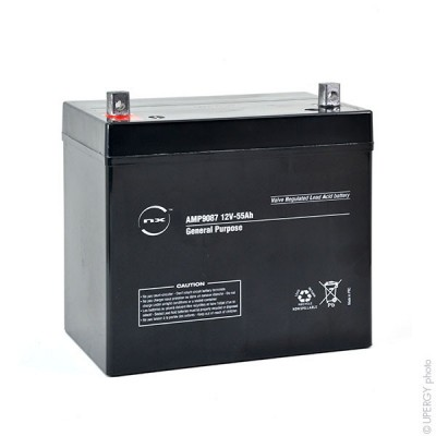Batterie plomb AGM NX 55-12 General Purpose 12V 55Ah M6-M