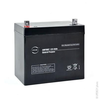 Batterie plomb AGM NX 55-12 General Purpose 12V 55Ah M6-M