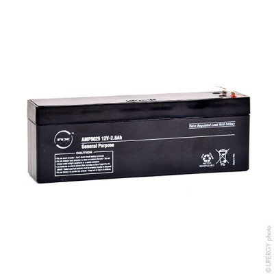 Batterie plomb AGM NX 2.6-12 General Purpose 12V 2.6Ah F4.8