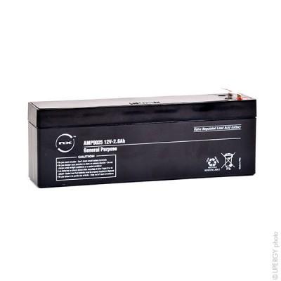 Batterie plomb AGM NX 2.6-12 General Purpose 12V 2.6Ah F4.8
