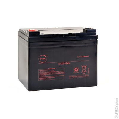 Batterie plomb AGM NX 33-12 General Purpose 12 Volts 33Ah M6-F
