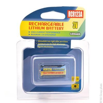 Batterie appareil photo RCR123 3V 500mAh