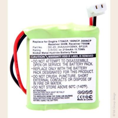 Batterie collier pour chien 3.6V 210mAh