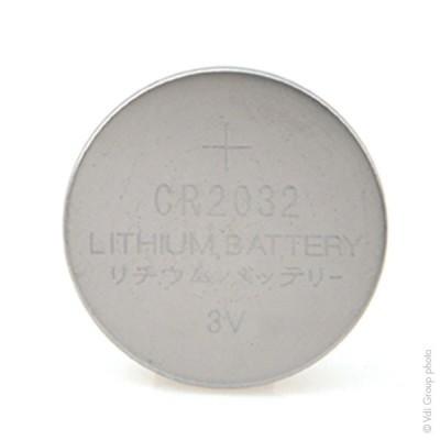 Pile bouton lithium blister CR2032 3V 225mAh