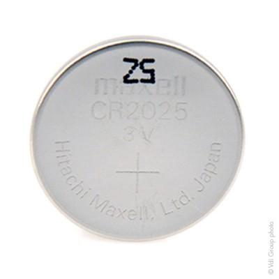 Pile bouton lithium blister CR2025 MAXELL 3V 170mAh
