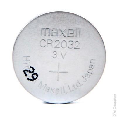 Pile bouton lithium blister CR2032 MAXELL 3V 220mAh