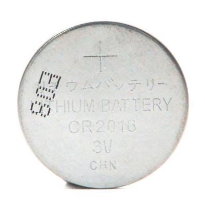 Pile bouton lithium blister CR2016 3V 80mAh
