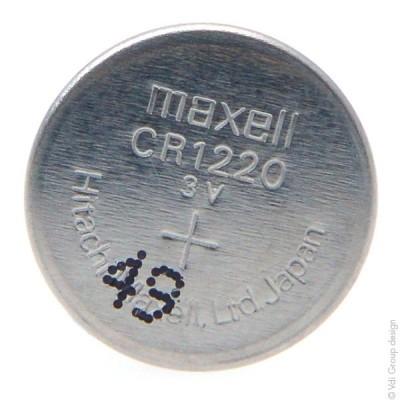 Pile bouton lithium blister CR1220 MAXELL 3V 36mAh