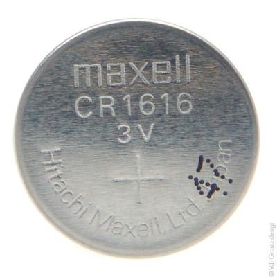 Pile bouton lithium blister CR1616 MAXELL 3V 55mAh