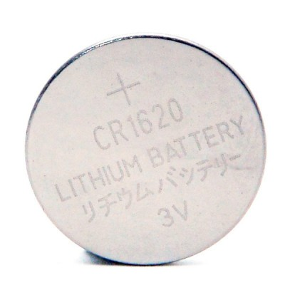 Pile bouton lithium blister CR1620 3V 70mAh