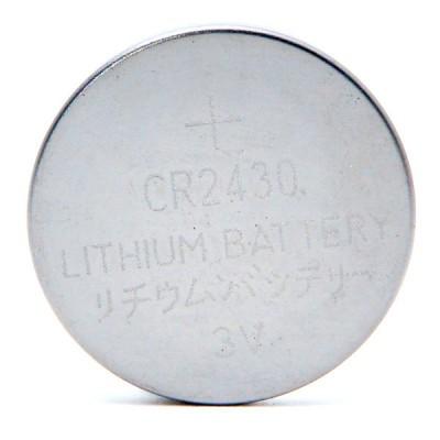 Pile bouton lithium blister CR2430 3V 280mAh