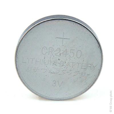 Pile bouton lithium blister CR2450 3V 600mAh